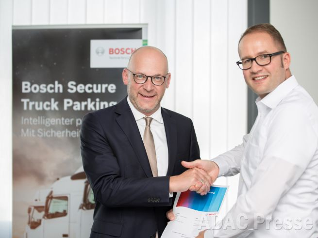 ADAC TruckService Bosch Secure Truck Parking